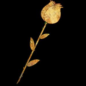 Goldene Rose Blume