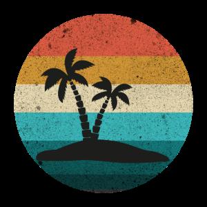 Vintage Ibiza Insel Sonnenuntergang Retro Sommer