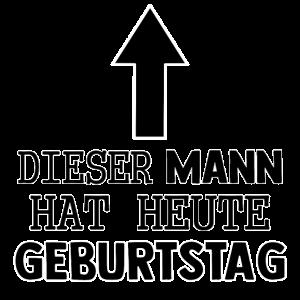 MANN HEUTE GEBURTSTAG!