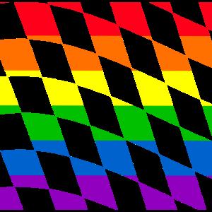 LGBT LGBTQ Geschenkidee Muster Gesichtsmaske