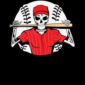 Skeleton hat trick or treat Baseball funny Gift