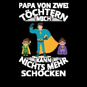 Papa von zwei Töchtern Vatertag und Vater
