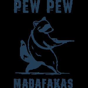 Pew pew racoon Waschbär