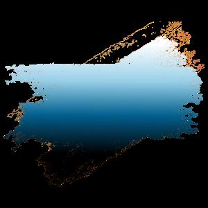 Paintbrush ocean blue