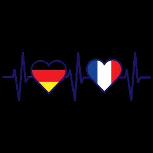 Deutschland Frankreich Freundschaft Herzschlag