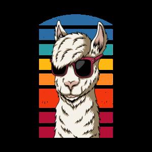 Cooles Retro-Lama-Design, Geschenk für Lama-Liebhaber