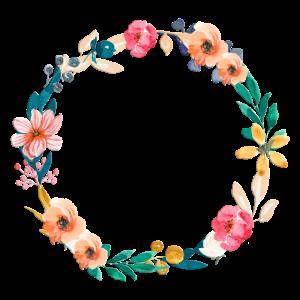 Schöner Blumenkranz- personalisierbar