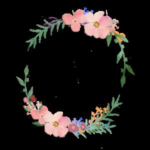 Moderner Blumenkranz -personalisierbar