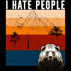 I HATE PEOPLE - BEAR - Ich hasse Menschen - Bär