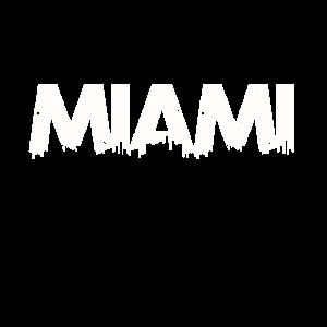 Miami Beach City Skyline