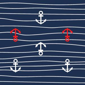 Anker und Wellen