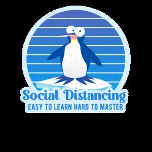 Soziale Distanz - Schwer zu meistern - Pinguin