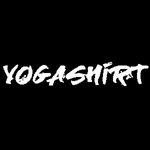 Yogashirt weiß Yoga Yogi Handschrift Meditation