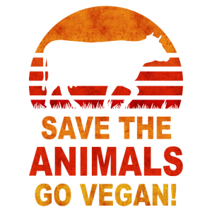 Save the Animals Go Vegan Vegan Retro Geschenk