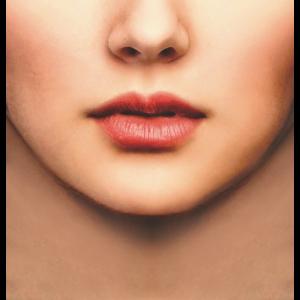 Mundschutz Foto Gesicht Rrau real Maske Corona
