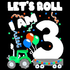 dritter Geburtstag Junge Geschenk 3 Trecker