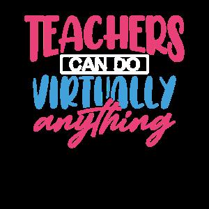 Lehrer für virtuelles Lernen können es virtuell tun