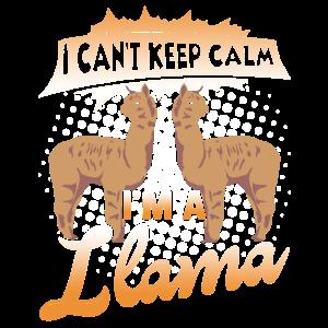 Ich kann mich nicht beruhigen Ich bin ein Lama