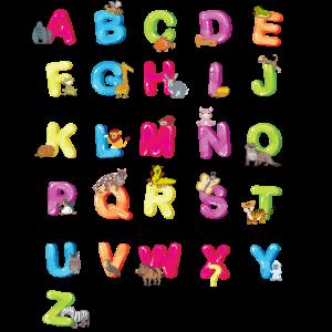 Alphabet Lernen bunte ABC Buchstaben