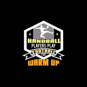 Fußball spielen Handballer zum warm machen