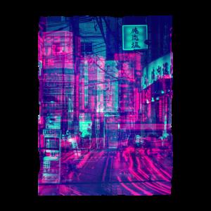 Tokyo Japan Vaporwave Aesthetics Street Glitch Art