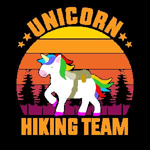 Unicorn Hiking Team Wanderer Wandern Wandergruppe