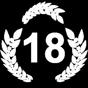 18 lorbeerkranz, geburtstagsgeschenk 18