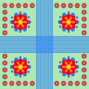 Muster aus abstrakten Blumen