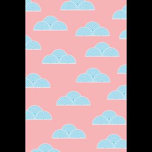 Clouds Blue Pink
