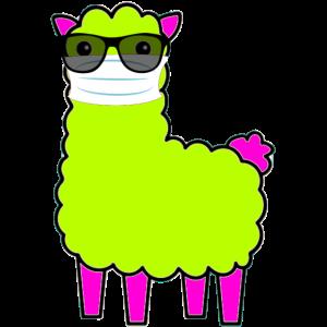 Lustiges Tier mit Gesichtsmaske und Sonnenbrille