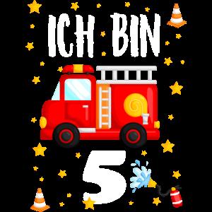 Feuerwehr Geburtstag - Ich bin 5 Jahre alt