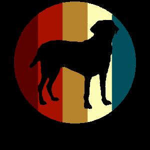 Retro Labrador Retriever Hundehalter Hund