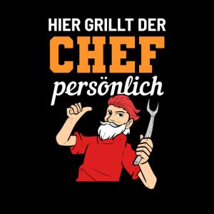 Chef Grillen Grillmeister Chefkoch Hobbygriller