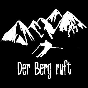 skifahren, skifahrer, der berg ruft