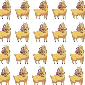 Lama Faultier Faul Süß Geschenk Alpaka