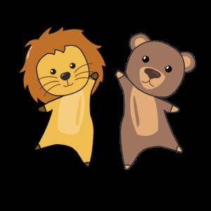 Löwe Bär Zoo Tiere lustig für Kinder Bären Löwen