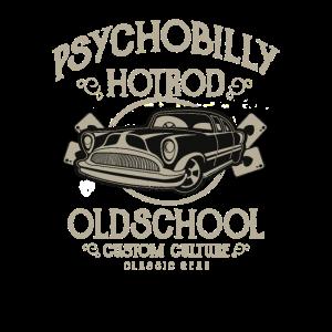 Psychobilly Hotrod Old School Classic Car