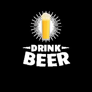 Drink Beer. volles Bierglas / Kölschstange Motiv