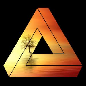 Dreieck Landschaft / Sonnenuntergang / Geschenk