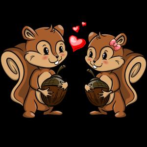 Eichhörnchen Love