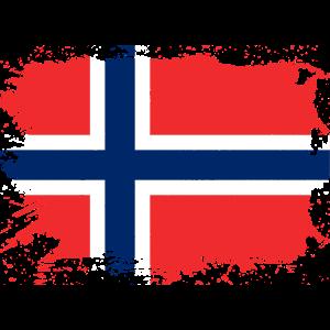 Norwegische Flagge Norwegen Norge Geschenk