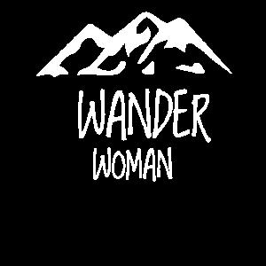 Berge Frauendesign Hobby Wandern Klettern Natur
