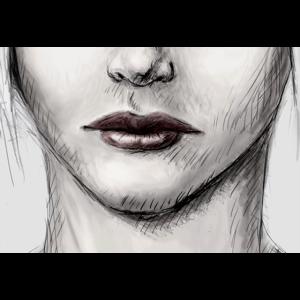 Gezeichnetes Frauen Gesicht