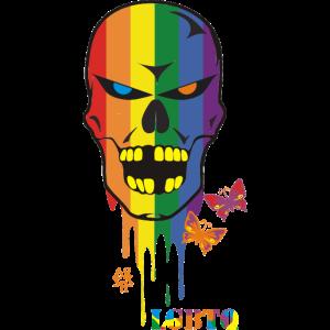 LGBTQ Skull