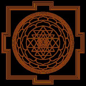 Sri Yantra braun