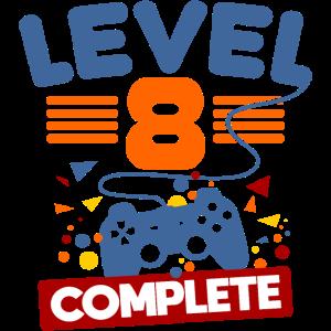 8. Geburtstag 8 Jahre Level 8 Complete Geschenk