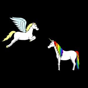 Jeder hat einzigartige Geschenke! Einhorn und Pegasus