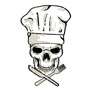 Totenkopf Koch Griller Hobbykoch Chefkoch