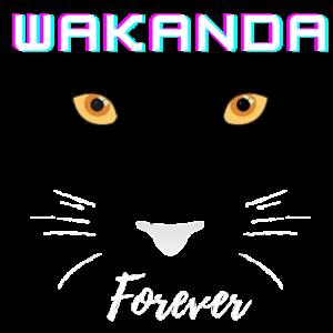Wakanda für immer schwarzer Panther-Fan