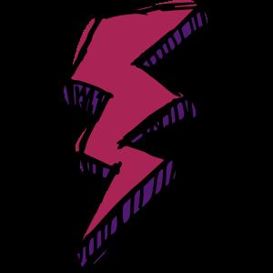 roter und lila Blitz